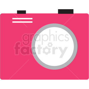 pink camera vector clipart clipart. Royalty-free image # 411664