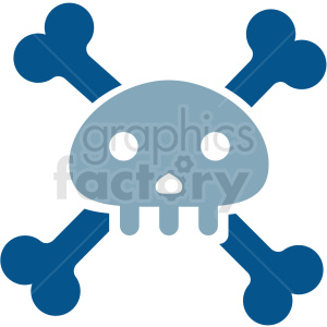 cartoon skull vector clipart clipart. Royalty-free image # 411681