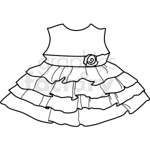 black white small dress icon vector clipart clipart. Royalty-free image # 411685