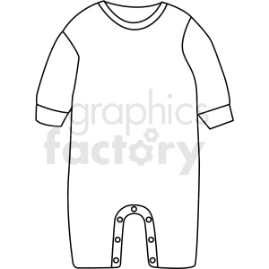 black white baby jumpsuit icon vector clipart clipart. Royalty-free image # 411718
