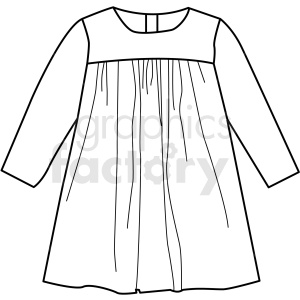 black white kids shirt icon vector clipart clipart. Royalty-free image # 411723