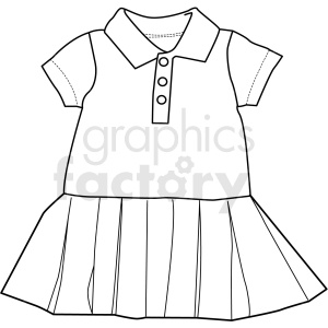 black white child dress vector clipart clipart. Royalty-free image # 411724
