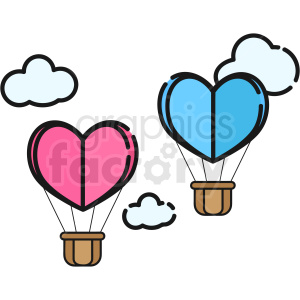 hot air balloons vector icon clipart. Commercial use image # 411786