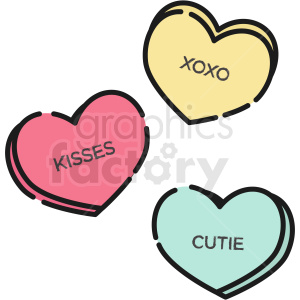 sweethearts heart candy vector icon clipart. Commercial use image # 411788