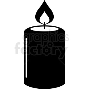 large candle clipart clipart. Royalty-free image # 411843