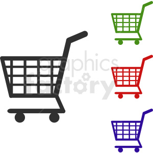 shopping cart vector icon set clipart. Royalty-free image # 411869