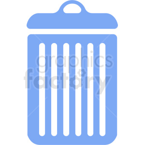 blue garbage can icon clipart. Commercial use image # 411873