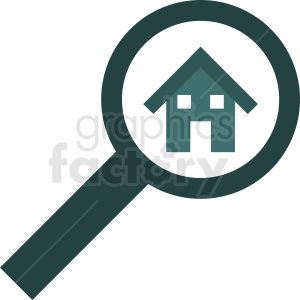 home searching vector icon clipart. Commercial use image # 411891