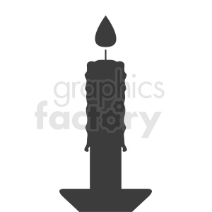 melting candle vector icon clipart. Commercial use image # 411934