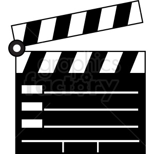 clapperboard vector clipart clipart. Commercial use image # 411949