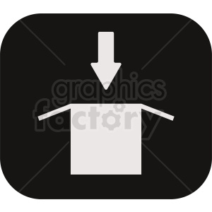 box download box icon clipart. Commercial use image # 411988
