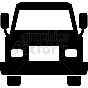 front of truck vector clipart clipart. Royalty-free image # 412031