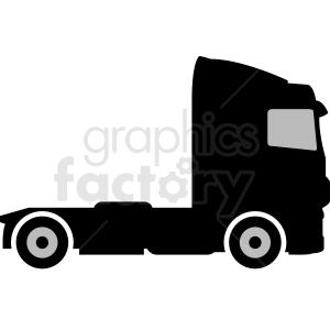 semi truck vector silhouette clipart clipart. Commercial use image # 412039
