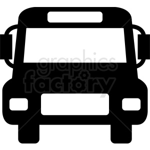 cartoon front of bus clipart clipart. Royalty-free image # 412051