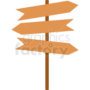 triple path signs vector clipart clipart. Commercial use image # 412068