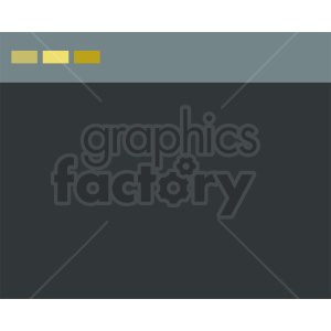 browser window vector graphic clipart. Commercial use image # 412084