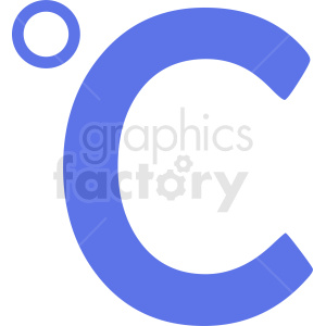 blue celsius symbol vector clipart. Commercial use image # 412101