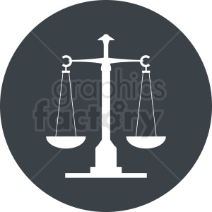 scale of justice vector clipart gray icon clipart. Royalty-free image # 412138