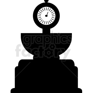 large food scale vector clipart. Royalty-free image # 412141