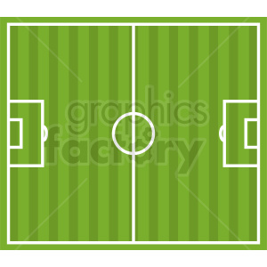 soccer field vector design clipart. Royalty-free image # 412161
