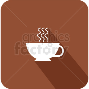 coffee cup on brown background vector icon
