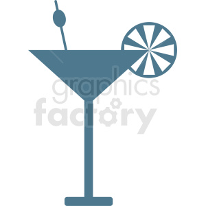 cartoon martini vector design clipart. Royalty-free image # 412248