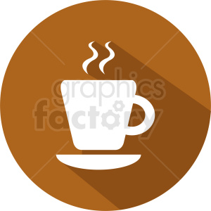 hot coffee cup vector icon clipart. Royalty-free image # 412257