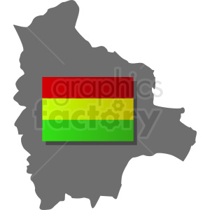 bolivia country with flag icon clipart. Royalty-free image # 412318
