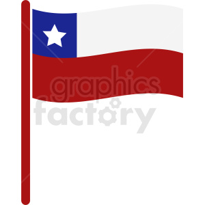 clipart - waving Chile flag icon.