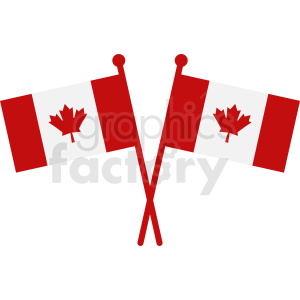 Canada flags vector art clipart. Commercial use image # 412328