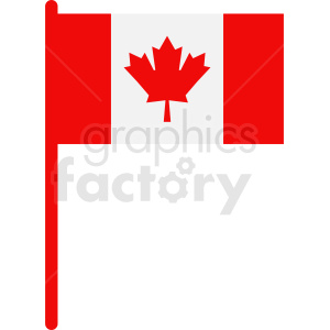 Canadian flag icon clipart. Royalty-free image # 412335