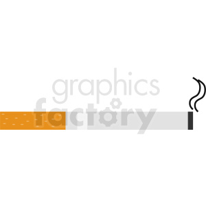 cigarette smoking vector icon clipart. Commercial use image # 412368