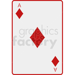 Ace of diamonds card vector icon clipart. Royalty-free image # 412379