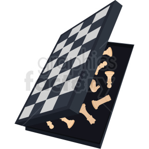 folding chess board vector clipart