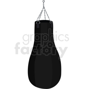 boxing punching bag vector clipart
