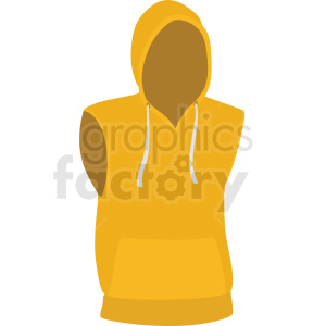yellow hoodie vector clipart clipart. Royalty-free image # 412527