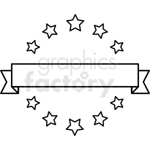 ribbon star badge vector asset clipart. Commercial use image # 412586