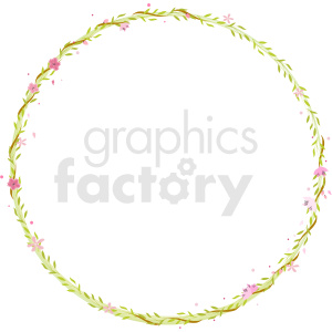 circle vines border vector clipart clipart. Royalty-free image # 412626
