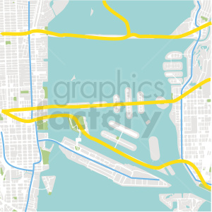aerial coastal map vector design clipart. Royalty-free image # 412664