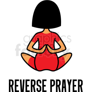 girl doing yoga reverse prayer pose vector clipart clipart. Commercial use image # 412790