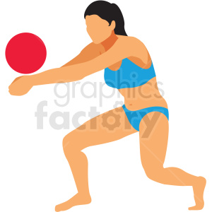 olympic volleyball player vector clipart