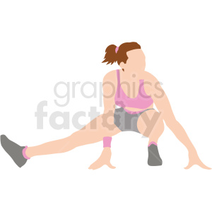 women stretching vector illustration clipart. Commercial use image # 412892
