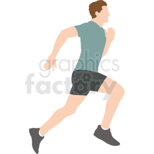 man running vector illustration clipart. Commercial use image # 412893
