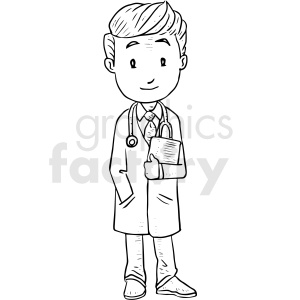 doctor black and white tattoo vector design clipart. Commercial use image # 412904