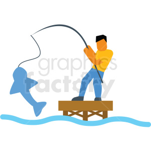 fishing vector icon clipart. Commercial use image # 412953