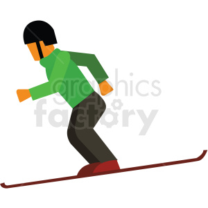 snow skiing vector clipart icon