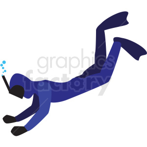 scuba diver vector clipart icon clipart. Commercial use image # 412974
