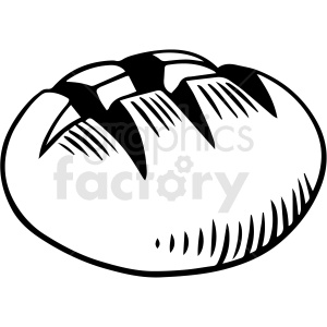 black and white bread roll vector clipart clipart. Royalty-free image # 412990
