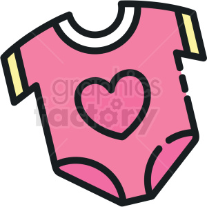 onesie vector clipart icon clipart. Commercial use image # 413286