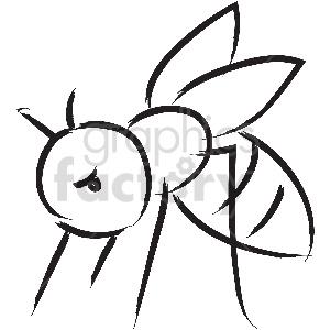 animals black+white bee wasp